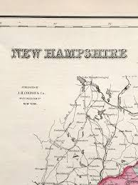 New Hampshire State Map by Antique Map New Hampshire State Map 1855 Scrimshaw Gallery