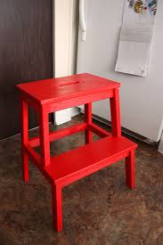 Ikea Stepping Stool Day 1 Paint An Ikea Step Stool Red Life At Cloverhill