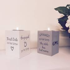 Light Holder by Personalised Tea Light Holder Love Unique Personal