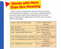 multiple meaning words mr norr 5th grade room 12