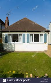 Bungalow Home Small Compact Bungalow Home With Perfect Green Grass Lawn And A
