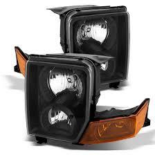 06 10 jeep commander black housing headlights