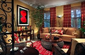 Beautiful Living Rooms Beautiful Living Room With Den Decorating Ideas Added Red Accents