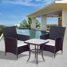 Rattan Settee Wicker Outdoor Sofas Chairs U0026 Sectionals Shop The Best Deals