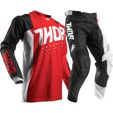 buy motocross gear thor 2017 mx new pulse aktiv jersey pants red black dirt bike