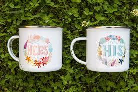His And Her Mug Matching Couple Coffee Mugs Retro Camper Mug His U0026 Hers Mug Ocean