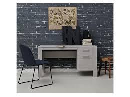 Schreibtisch Mit Computer Woood Schreibtisch Mit 1 Schublade Und 1 Tür Beton Grau Woood
