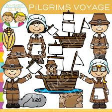 pilgrims voyage clip images illustrations whimsy