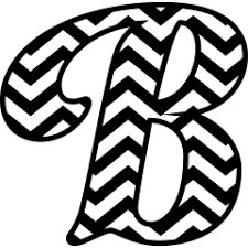 monogram letter b chevron monogram