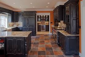 distressed black kitchen island kitchens with black distressed cabinets pre finished kitchen