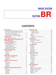 nissan sentra n16 brake service manual brake airbag