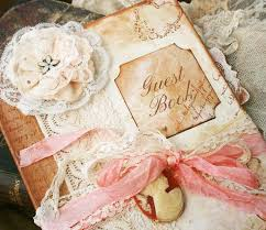 vintage wedding guest book custom vintage style guest book for wedding vintage shabby chic