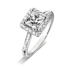 engagement rings uk finnies the jewellers platinum square halo diamond ring with