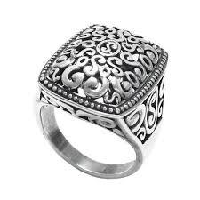 rings ladies silver images Sterling silver beaded edge decorative multi swirl ring wholesale jpg