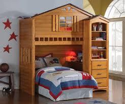 house rustic oak loft bed