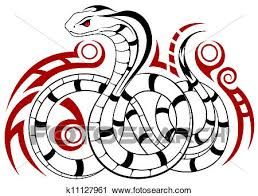 clipart of vector snake tribal k11127961 search clip