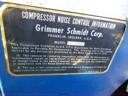 grimmer schmidt 375d air compressor item bz9596 sold ju