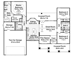 craftsman style house plan 3 beds 2 00 baths 1619 sq ft plan 21 398