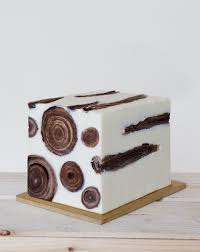 log edible cookie logs in a blog of olive oil ice cream a snowy