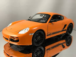 ebay porsche cayman porsche cayman 987 c s orange 1 18 welly ebay