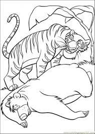 baloo shere khan coloring free jungle book coloring