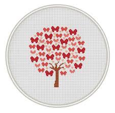 butterfly tree cross stitch pattern instant free