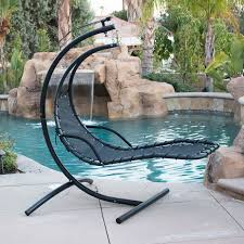 Patio Swings And Gliders Hanging Chaise Lounge Chair Hammock Swing Canopy Glider Outdoor
