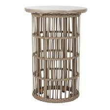 Rattan Side Table Concrete And Rattan Side Table Eclectic Goods