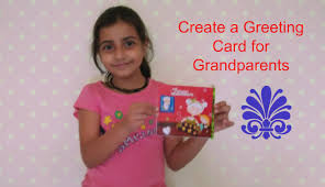 create greeting card for grandparents youtube