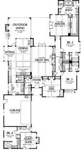 Cottage Floor Plans With Screened Porch I Love This Floor Plan The Screened In Porch With Fireplace And