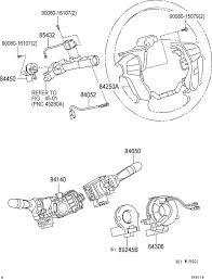 2007 toyota avalon parts 2005 2007 toyota avalon steering wheel switch assemblies light