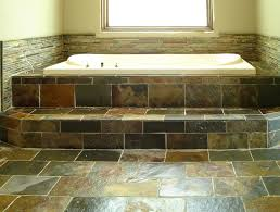 this is a beautiful slate tile backsplash using black and gray
