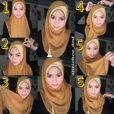 tutorial memakai jilbab paris yang simple tutorial cara memakai jilbab paris simple
