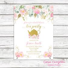 bridal shower tea party invitations tea party invitation bridal shower invitation bridal tea