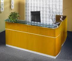 Yellow Reception Desk Custom L Shaped Reception Desk Designs Desk Design