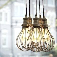Vintage Pendant Light Cage Lights Shack Vintage Cage Pendant Light Birdcage Light