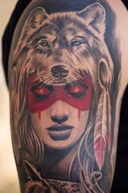 Wolf Indian Tattoos - fred 2 wolf pelt and owl ricardo vasquez flickr