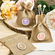 burlap favor bags personalized silhouette burlap favor bag wedding favor bags