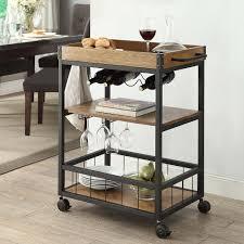 linon 464908mtl01u austin mobile industrial style kitchen cart in