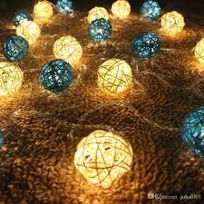 rattan ball fairy lights 4m 20led rattan ball string lights sepak takraw ball light l