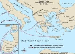apostle paul u0027s final missionary journey map