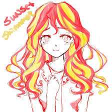 sunset shimmer rough sketch by d tomoyo on deviantart