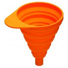 entonnoir de cuisine entonnoir cuisine pliant silicone 8 cm orange ohmykitchen com