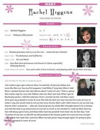 Kids Resume Create A Resume For A Book Character Kids Practice