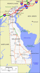 delaware road map usa delaware counties road map usa