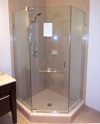 a neo angle shower for a space saving corner shower bath decors