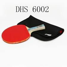 professional table tennis racket 2018 brand dhs 6002 table tennis racket with cover rubber