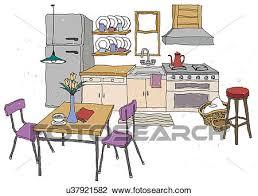 cuisine clipart clipart cuisine intérieur u37921582 recherchez des cliparts