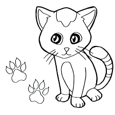 paw print sheets cat coloring pages paw print with cat coloring page