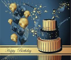 vector illustration of a happy birthday greeting card royalty free